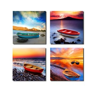 Beach Boat Canvas Art Print /Seascape Home Decor Wall art /Landscape Wall Decor Fine Art