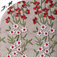 70213 Guangzhou textile embroidery design 100% polyester knit fabric mesh fabric