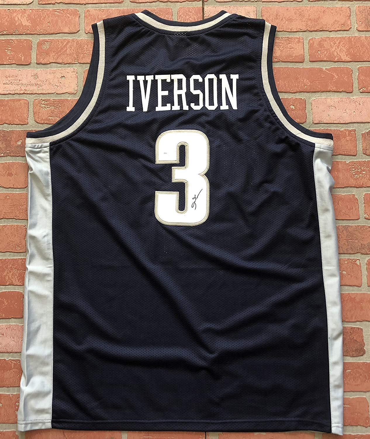 e0c7bb3ef4a Allen Iverson autographed signed jersey NCAA Georgetown Hoyas JSA w/COA