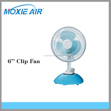 Air cooling fan Type 6'' mini clip fan on desk fan