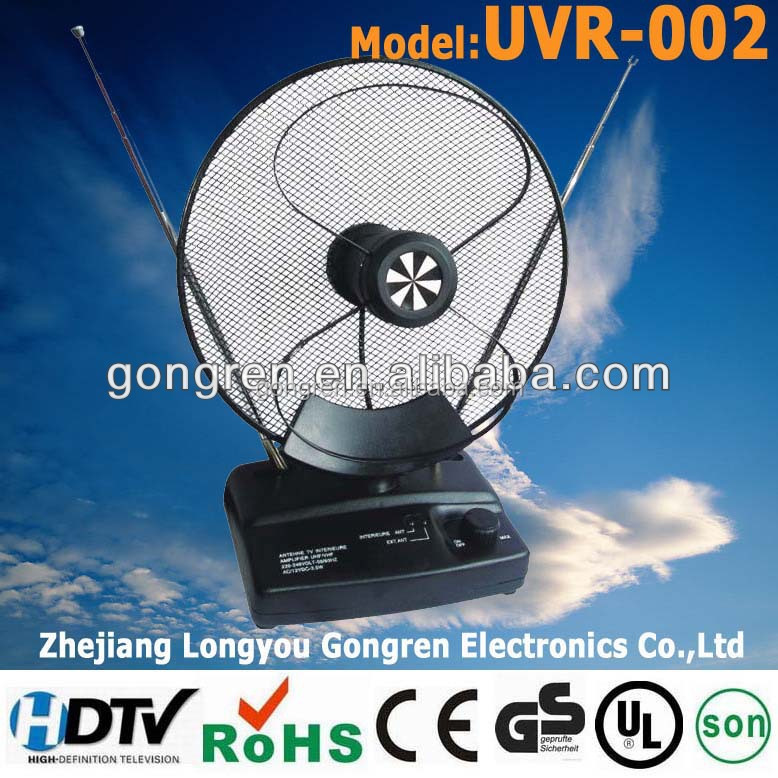 home use TV Antenna VHF/UHF/FM model UVR-002 radio antenna