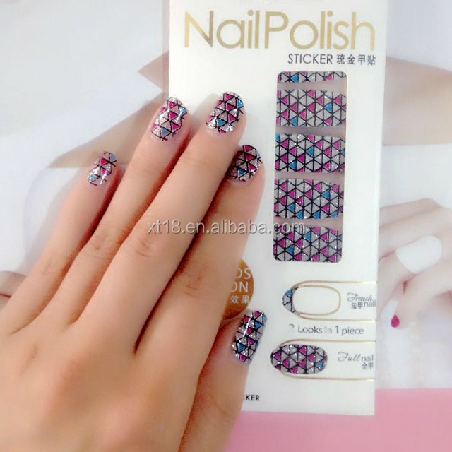 Nail Foil Sticker Of Custom Design Wraps With Nail Sticker Wholesale ...