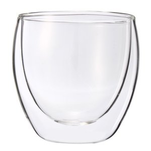 Wholesale Small Mini Double Wall Layer Glass Wine/tea Cups Pyrex Mug