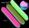 Factory OEM sweet color mini glass nail file buffer manicure tool