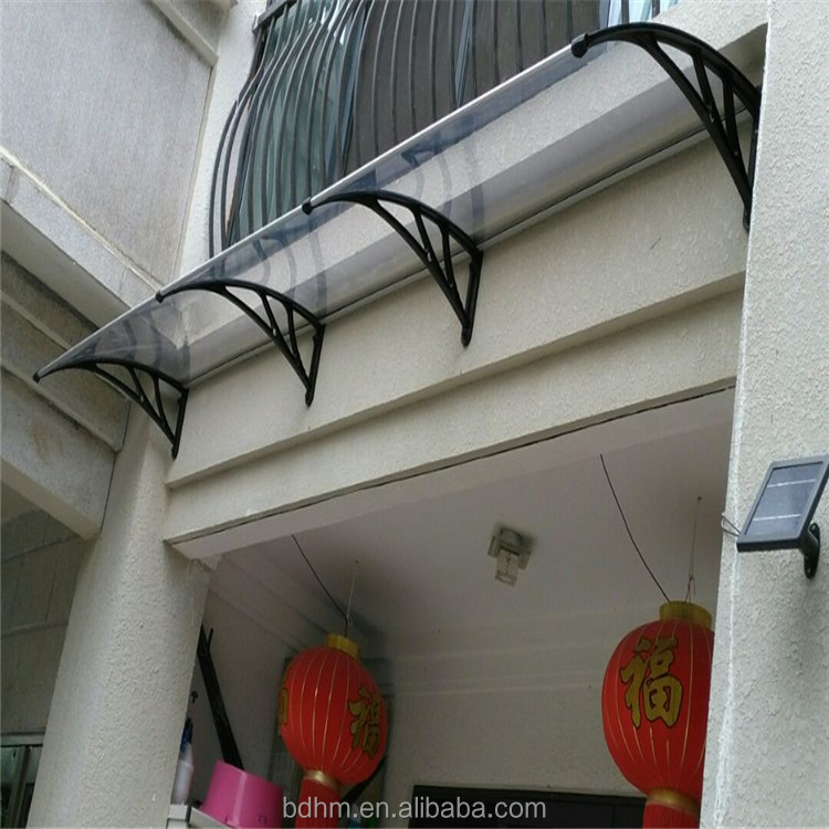 Polycarbonate board balcony sun shades awnings for outdoor window shelters