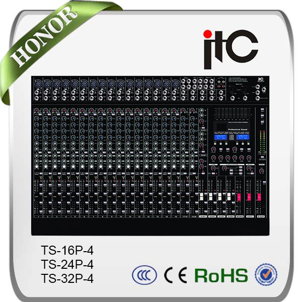 TS-16P-4 SMT Technology Design 8/16/20 Channel Professional Sound Mixer Digital