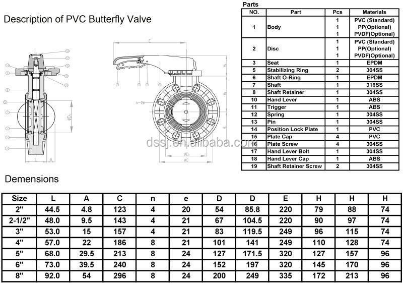 water butterfly valves small size dn50 hand lever operated lug type flange butterfly valve
