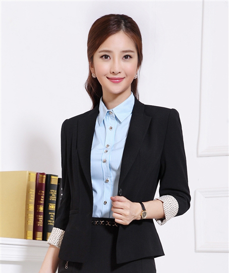 be4f9d8ee0d Get Quotations · High Quality 2014 Womens Blazers Office Uniform Style  Formal Office Ladies Blazer Jackets Plus Size V