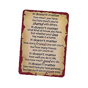 "Abbey Press 2.5"" x 3.5""""It Doesn't Matter"" Prayer Cards (44149)"