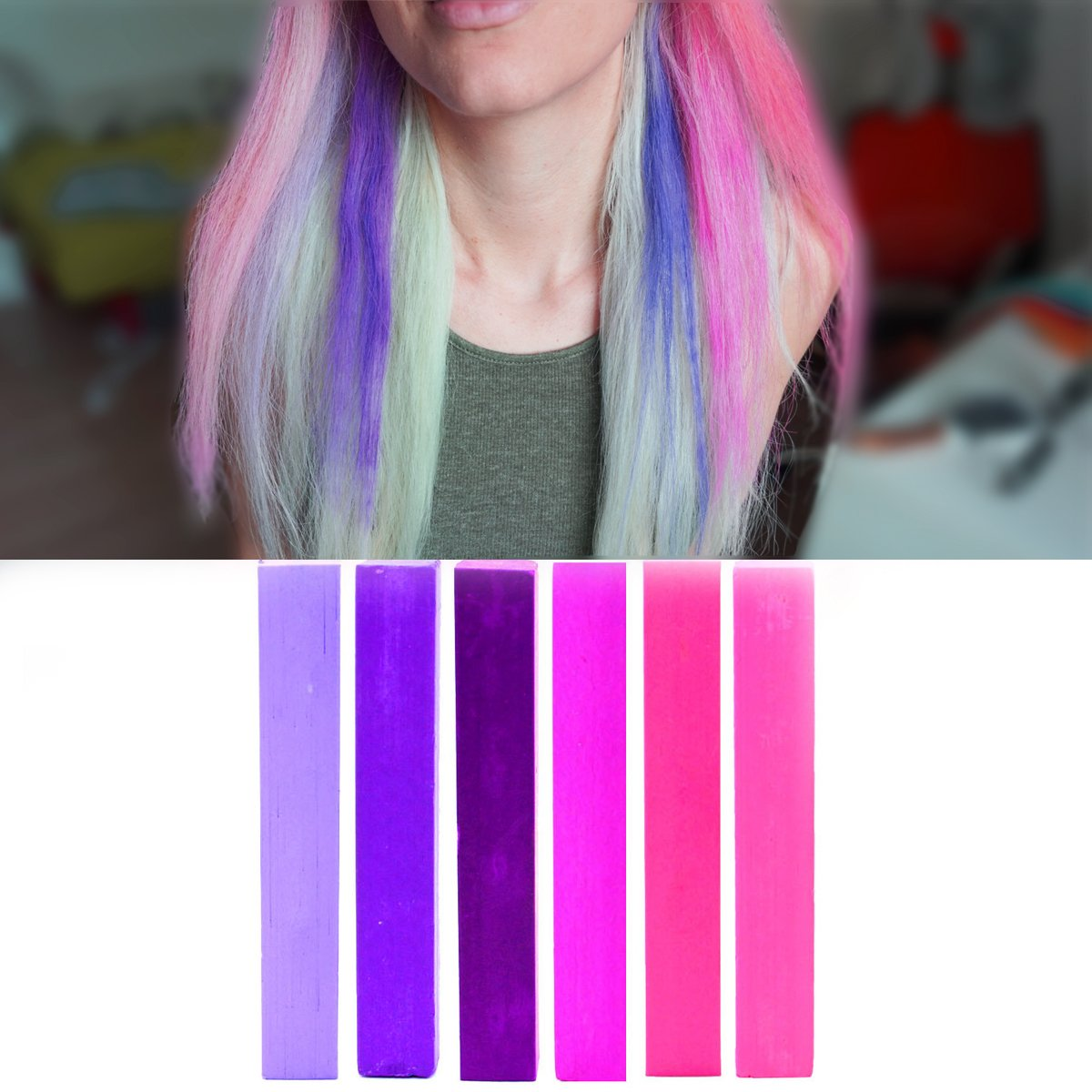 Buy Best Pink Purple Ombre Hair Dye Set Violet Purple And Lilac