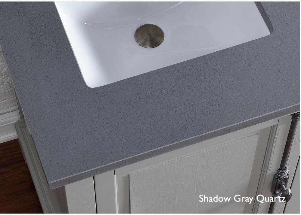 James Martin Furniture 801909 48 in. Single Vanity with Shadow Gray Quartz Top