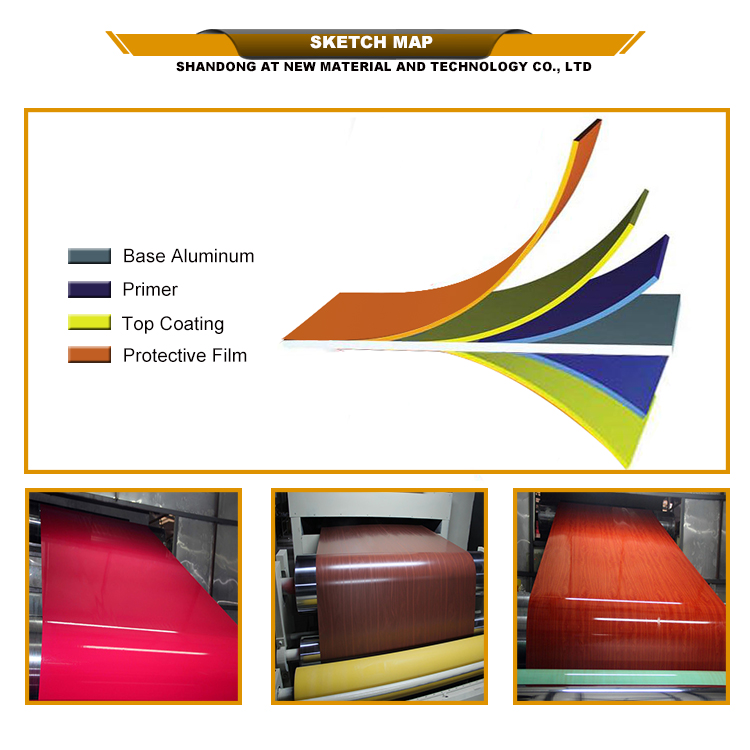 Pre-painted aluminum coil for producing acp