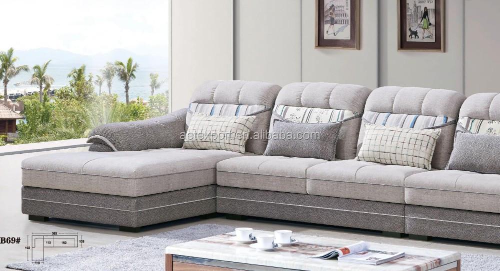 comfortable multiseat sofa fabric l shape design for living room