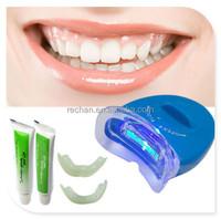 LED White Light Teeth Whitening System Kit Tooth Whitelight Gel Oral Cleaner