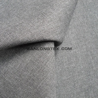 100% polyester POY,ATY imitated linen look woven fabric bonded with knitting backing for upholstery