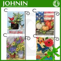 Cheap custom both sides printed Seasonal garden decorative flag
