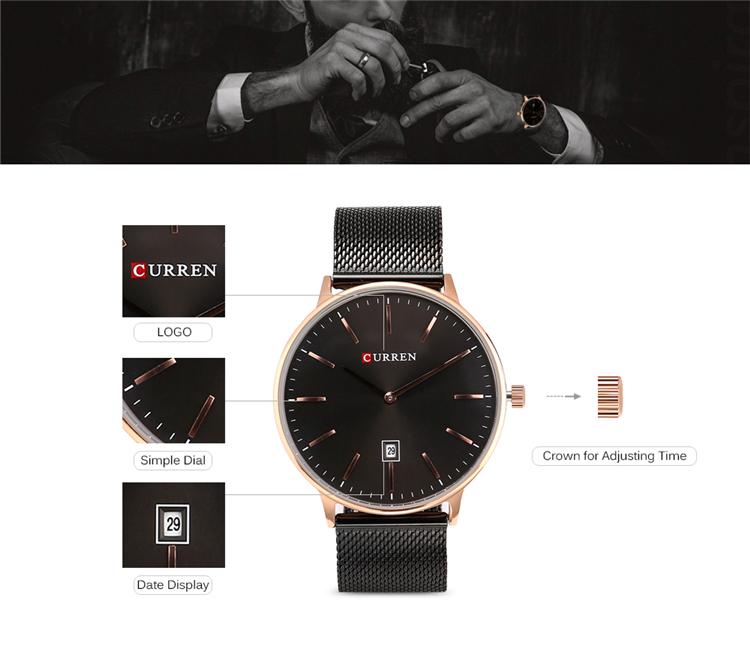 Curren 8302 Fashion Men Quartz Watch 7