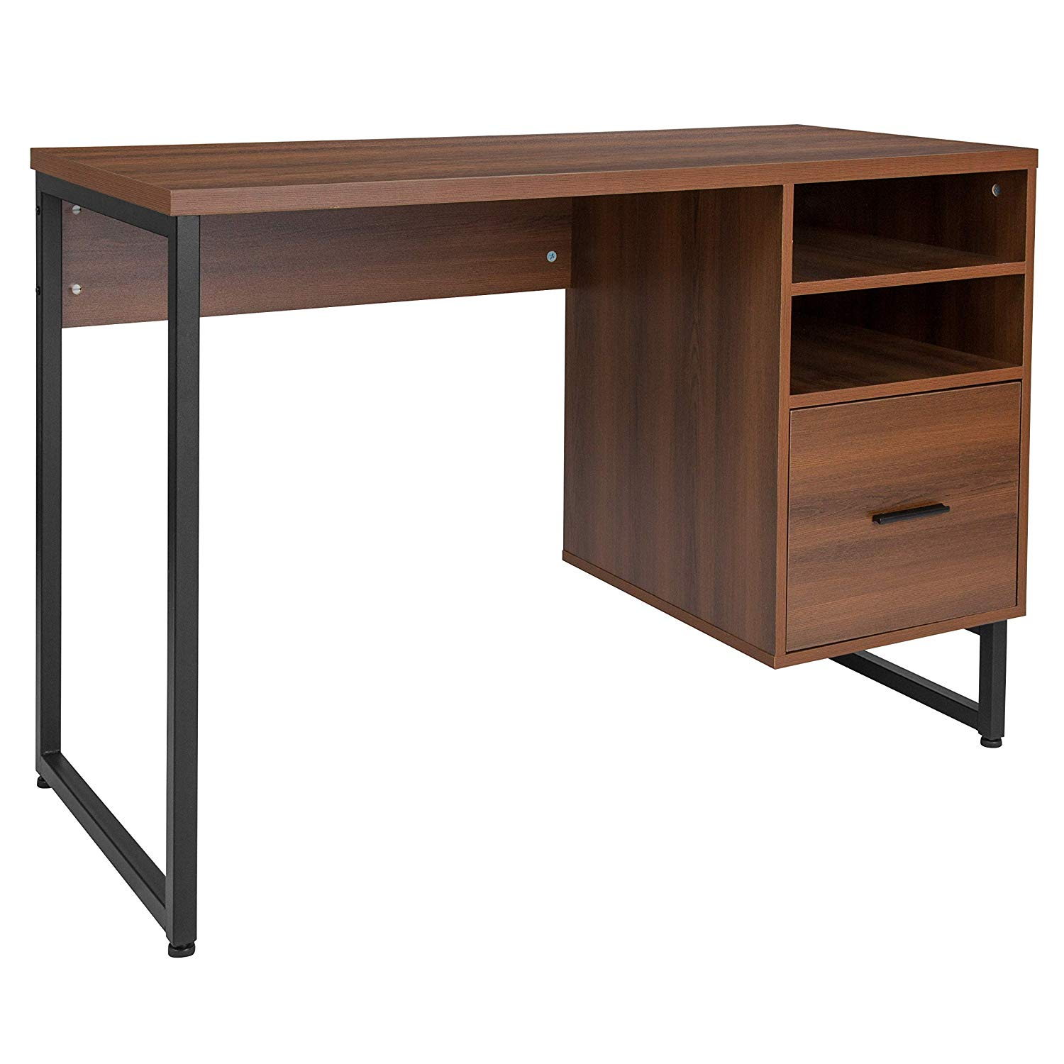 - Wooden Gaming Computer Table Desk Simple Computer Desk With Two