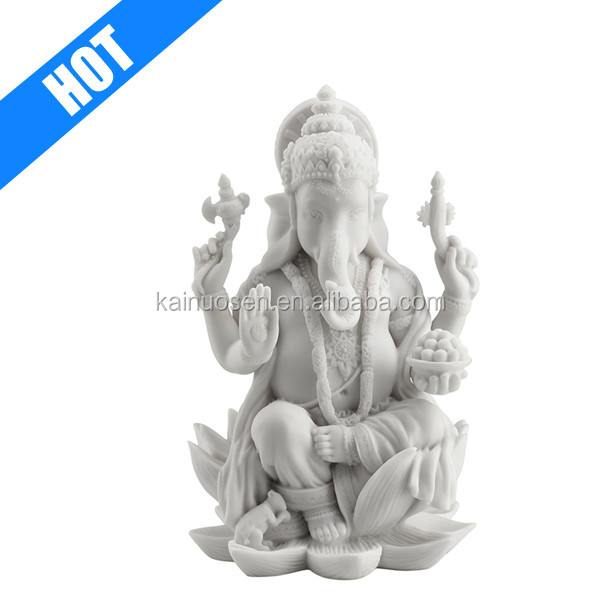 7 1/4-inch Hand Painted Resin Hindu Elephant God for SALE