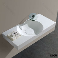 Modern Integrated Bathroom Sinks And Countertops - Buy One Piece ...