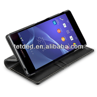 TETDED Premium Leather Case for Sony Xperia Z2 D6502 / D6503 / D6543 -- Gerzat III (LC: Black)