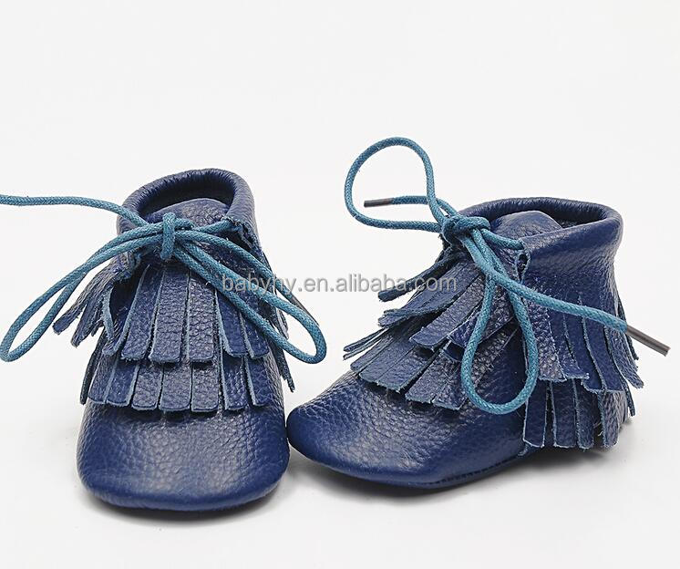 New Genuine Leather baby Fringe boots First Walkers lace-up wholesale baby moccasin shoes