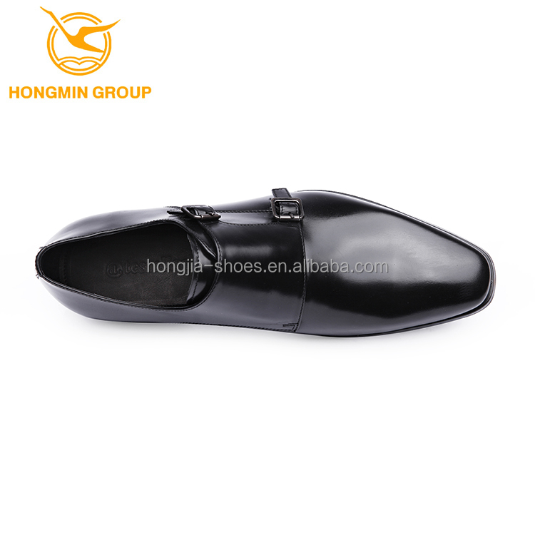 strap double class shoes leather top genuine High style 2018 monk shoes quality new dress men 5dtnSqqFw