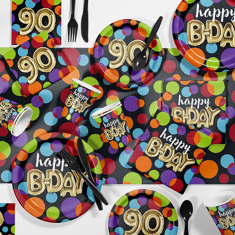 Balloon Birthday 90th Party Supplies Kit
