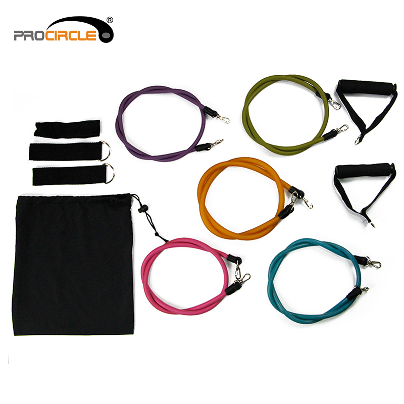 Natural Latex Tube With Foam Handles Resistance Band