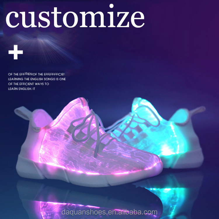 Zapatillas luz up led de fábrica por atacado da sapatilha customize led flash Adulto homens sapatos luz running conduzida
