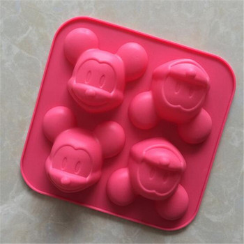 100 Food Grade Mickey Mouse Head Shape Silicone Cake Mold Baking Molds