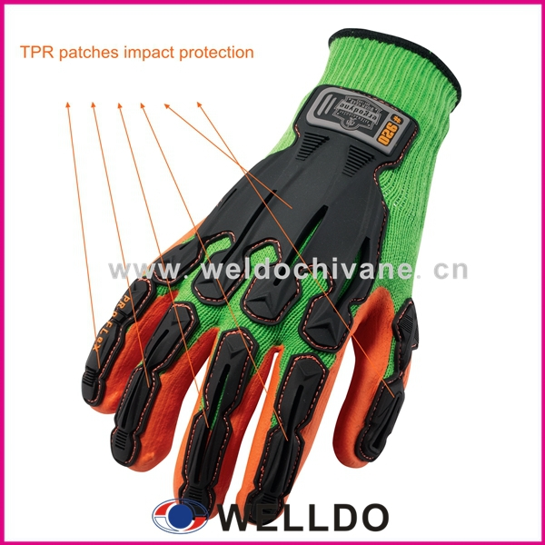 Tpr Back-of-hand Protection Oilfield Impact Gloves