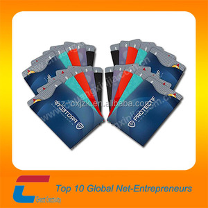 paper&aluminum foil RFID blocking sleeves/ Credit Card Secure Protection shield