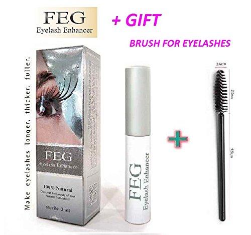 849a2b90337 Get Quotations · FEG Eyelash enhancer. The most powerful eyelash growth  Serum 100% Natural. Promote rapid