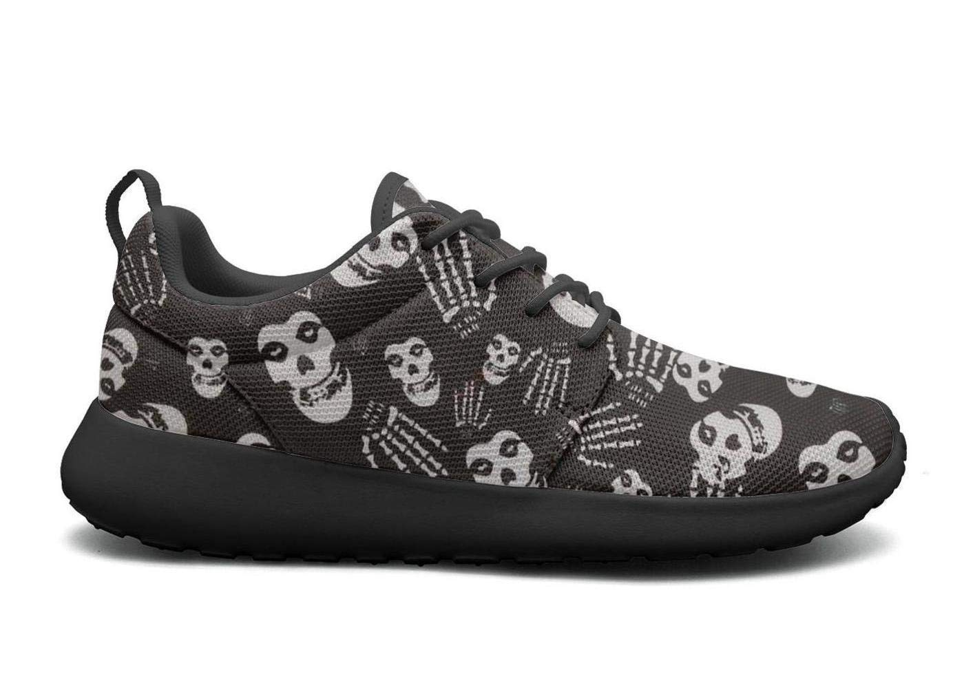 e69e92282c93 Get Quotations · UONIERSH Skull-Misfits-Ghost-Punk-Gothic Print Women s  Sports Running Shoes Casual