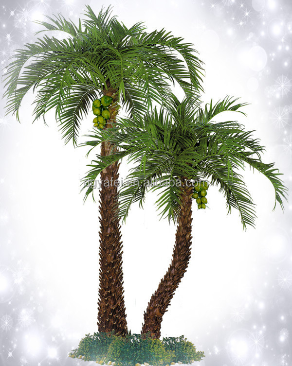 Tot sale anti fire fake sago palm trees high end anti uv artificial palm trees