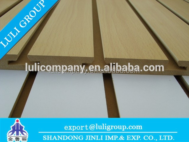 Melamine slotted MDF board with aluminum