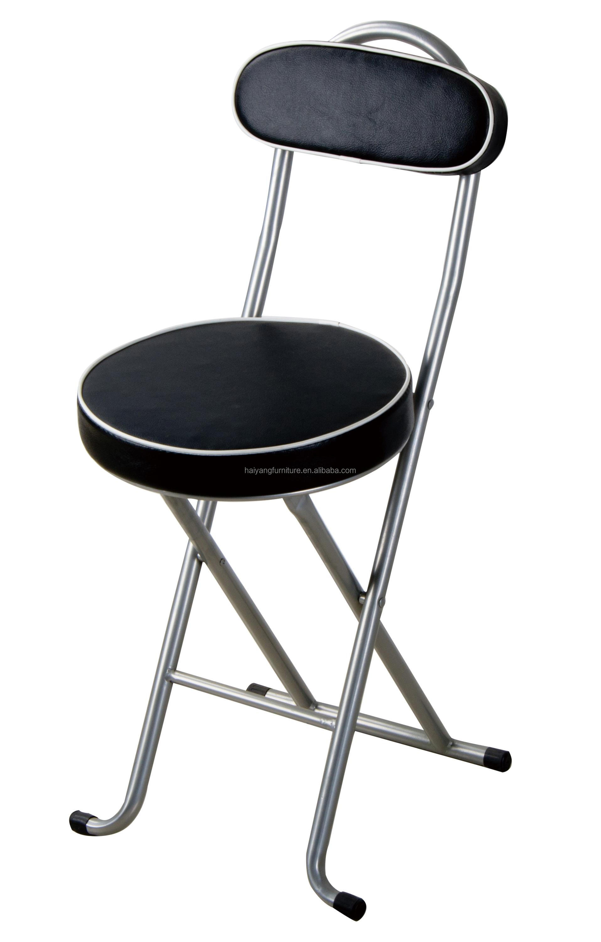 Small Round Folding Chair With Durable And Padded Seating Supplier