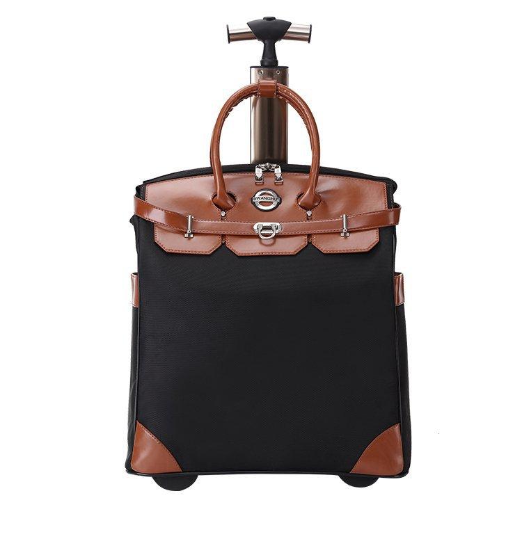 2019 new design 20 inch Waterproof luggage vintage trolley bag portable roller backpack
