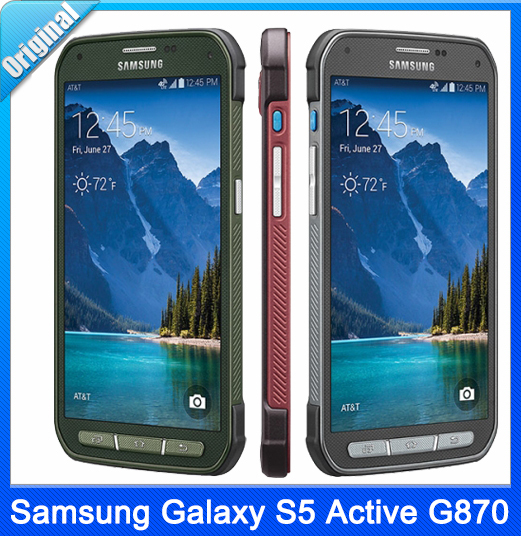 Original Samsung Galaxy S5 Active G870 Unlocked Mobile Phone Quad-Core 5 1″  Inch 2GB RAM 16GB ROM 16MP Cell Phone Free Shipping