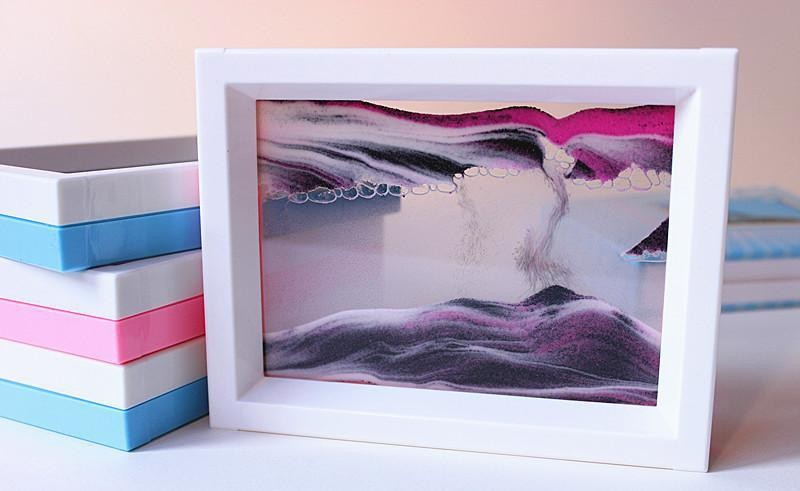 moving sand art moving sand art suppliers and manufacturers at alibabacom - Moving Picture Frame