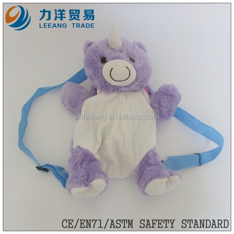 Plush bag for kids, Customised toys, CE/ASTM safety stardard