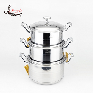 Prestige non-stick stainless cookware sets cookware stainless stock pot with capsulate bottom size 16 to 30cm