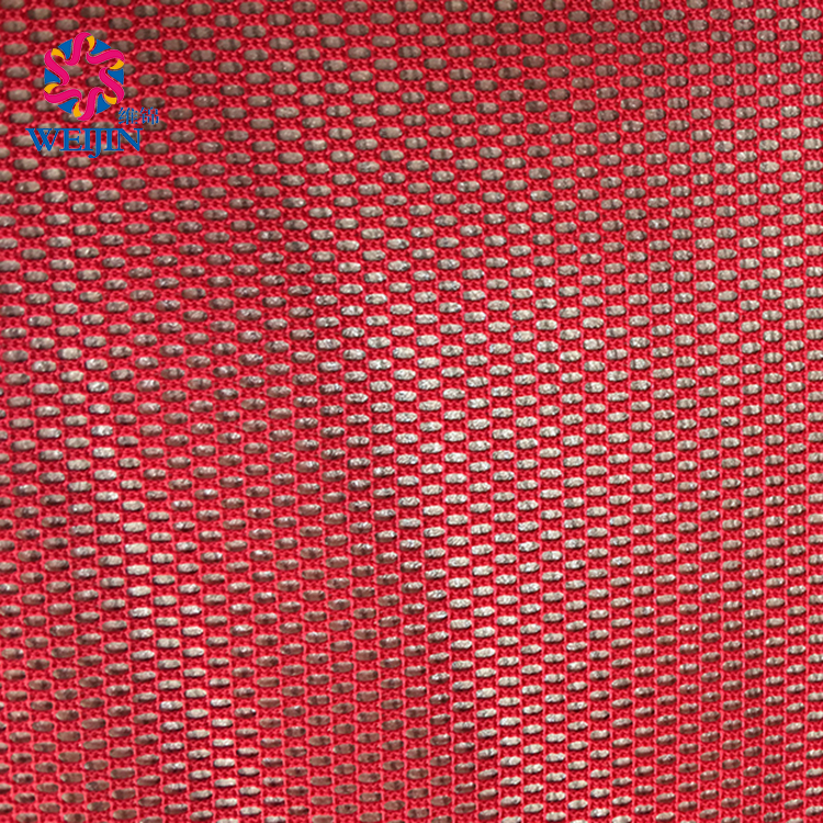 100%Polyester High Quality Design Red Soft Tulle Mesh Fabric Textile