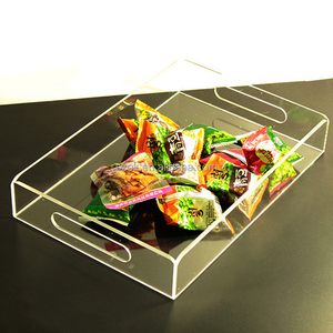 shenzhen wholesale clear plastic acrylic food tray