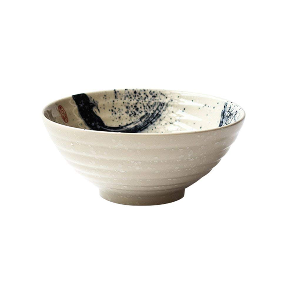 Dinnerware Bowls 7 Inch Japanese Style Ramen Bowls Hand Painted Ceramic Thread Bowl Creative Restaurant Tableware Home Dinnerware Retro Soup Bowl