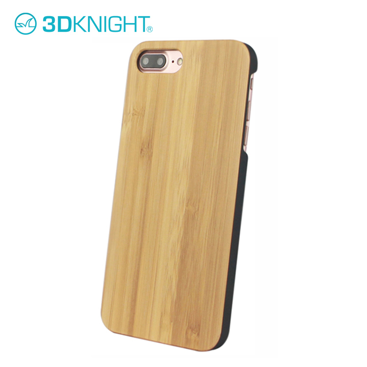 Laser Engraving LOGO Natural Wood Bamboo Phone Case For iPhone 8