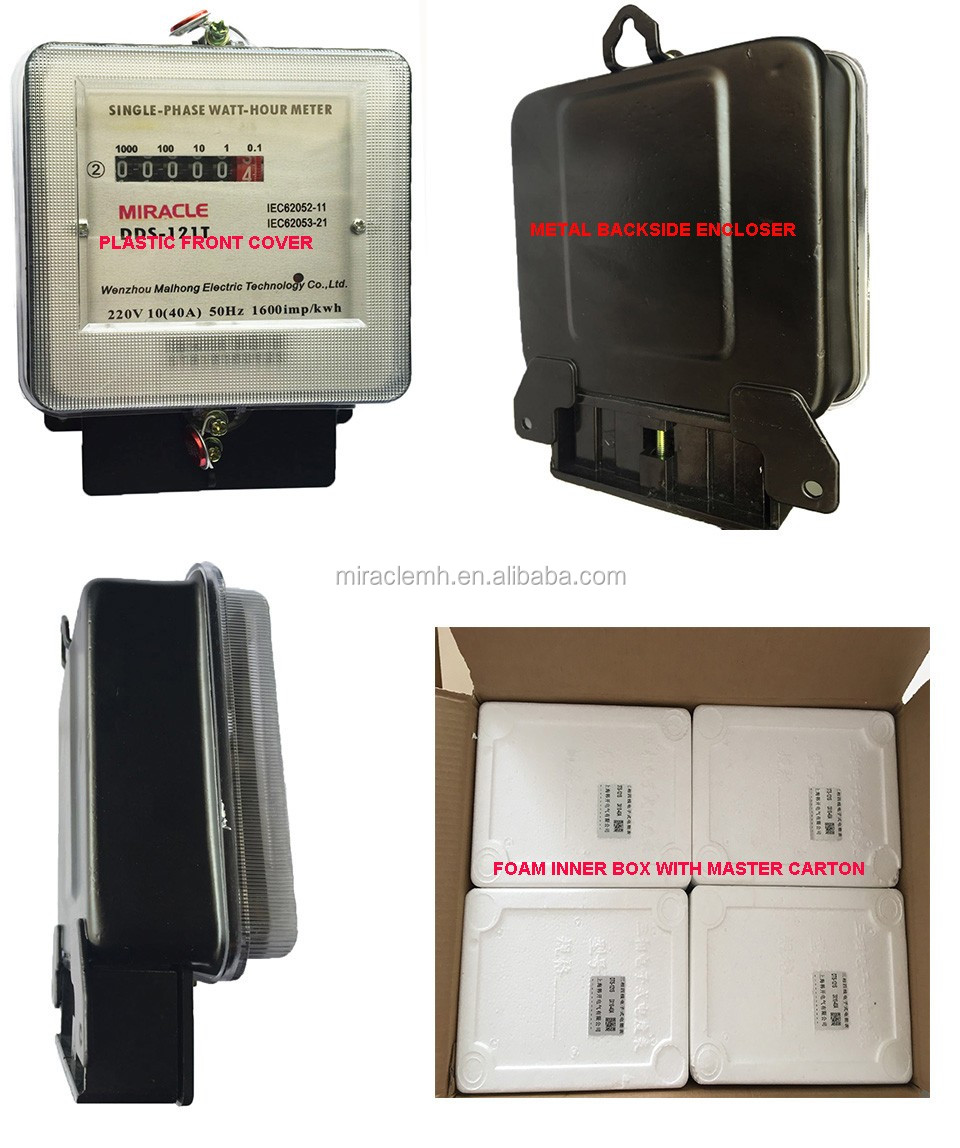 Secondary Electric Meter : Single phase old used electric sub meters with second hand