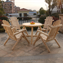 outdoor wooden american leisure garden log furniture