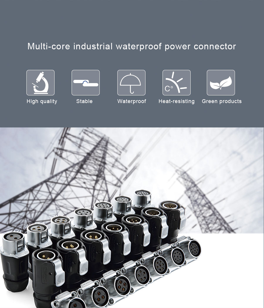 CNLINKO Manufacturer M16 series 2pin circular easy to install electricity waterproof connector